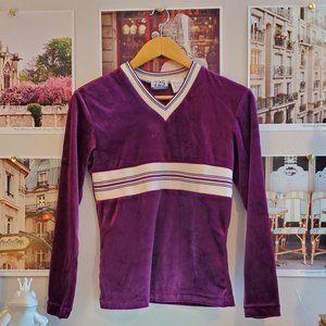 Vintage 90s 725 Originals Purple Velvet Top